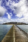 HDR image of the walled old town of Saint-Malo