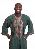 Standing African Man With Traditional Clothes
