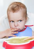Toddler Baby Boy Eats
