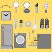 Everyday tools graphic vector set