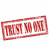 Trust No One-stamp
