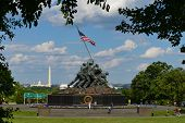 WASHINGTON, DC - MAY 25, 2014: Iwo Jima Memorial in Washington, DC. The Memorial honors the Marines