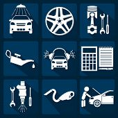 Set of car service icons. Vector illustration