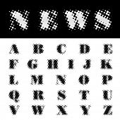 vector dotted newspapers font