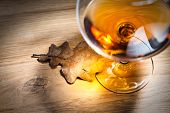 Brandy And Dried Oak Leaf