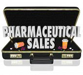 Pharmaceutical Sales 3d words medical salespeople presenting free samples