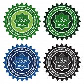 100% Halal certified product labels.