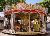 Carousel on the main square in Assisi, Italy