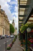 Flower Market On Cite Island Near Conciergerie In Paris, France