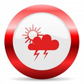 storm glossy web icon