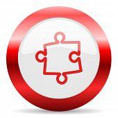 puzzle glossy web icon