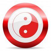 ying yang glossy web icon