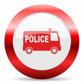 police glossy web icon