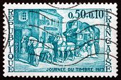 Postage Stamp France 1973 Mail Coach, 1835