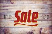 sale wooden signboard