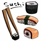 Sushi colorful collection