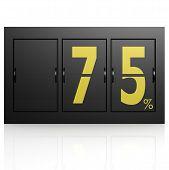 Airport Display Board 75 Percent