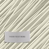 Stripe pattern with Label for Text. Vector