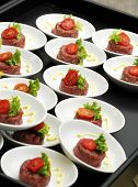 Individual Servings Of Beef Tartare