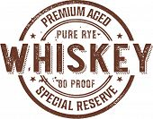 Premium Vintage Whiskey Alcohol Stamp