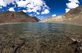 stock photo of himachal pradesh  - Suraj Taal mountain sacred lake  - JPG