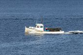 stock photo of lobster boat  - This is an image of a Maine lobster boat - JPG