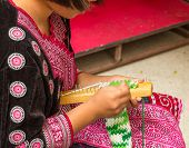 Asian Hill Tribe Tradition Knitting