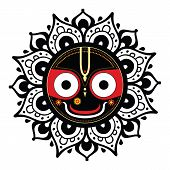Jagannath. Indian God of the Universe.