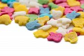 image of jimmy  - Colorful candy confetti on the white background - JPG