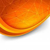 Bright Orange Intricacy Molecule Background