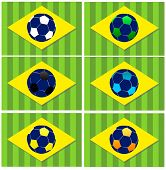 Brazil Football Vector Icons