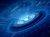 Blue Spiral Wormhole
