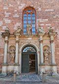 Right Portal (1692) Of St. Peter Church In Riga, Latvia