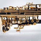 image of wind instrument  - Close up of an abstract wind musical instrument - JPG