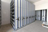 foto of movable  - Automated shelving system with mobile cabinet for documents - JPG