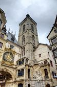 Astronomic clock and fountain at Rue du Gros-Horloge (1389). Rouen, France