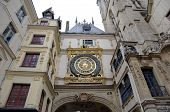 Astronomic clock at Rue du Gros-Horloge (1389). Rouen, France