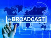 Broadcast Map Displays International Broadcasting And Transmission Of News