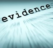 Evidence Definition Displays Crime Scene Investigation And Police Report