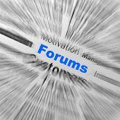 Forums Sphere Definition Displays Online Discussion Or Global Communication