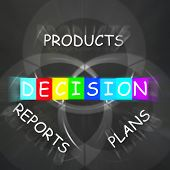 Deciding Displays Decision On Plans Reports And Products