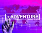 Adventure Map Displays International Or Internet Adventure And Enthusiasm