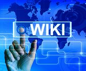 Wiki Map Displays Internet Information And Encyclopaedia Websites