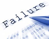 Failure Word Displays Inept Unsuccessful Or Lacking