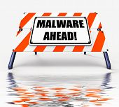 foto of maliciousness  - Malware Ahead Displaying Malicious Danger for Computer Future - JPG