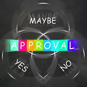 Approval Displays Endorsed Yes Not No Or Maybe