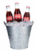 Coca-cola Bottles In Ice Bucket