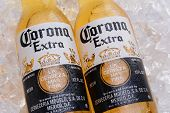 Corona Extra Beer Bottles On Ice