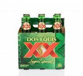Dos Equis Lager 6Pk Side View
