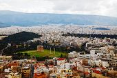 image of olympian  - Temple of Olympian Zeus in Athens Greece on an overcast day - JPG
